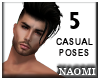 5 Male Casual Poses