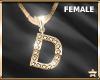 """SF  Letter """"D"""" Necklace"""
