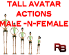 M/F Tall Avatar Actions