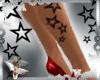 Stars Leg Tattoos