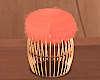 Blush Fur Stool