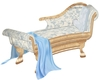 chair chaise blue
