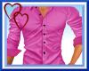 W|Pink Mens Dress Shirt