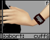 :a: Dark Red Cuffs F