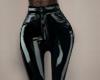 Vinyl pants, black.