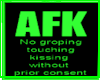 FS Portable AFK Sign