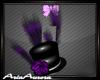Burlesque Hat Purple