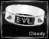 White Evil collar PVC
