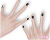 ♡ black nails
