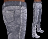 male jeans&boots - grey
