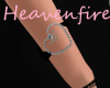 ^HF^ Black Heart Braclet