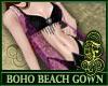 Boho Beach Gown Purple