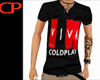 Black Coldplay Vneck