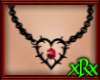 Goth Heart Necklace Blk