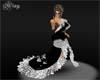 {KAY} Black silver dress
