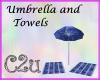 C2u Towels and Umbrella