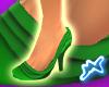 [M] Ruffle Shoes Green