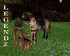 Brown Horse/Hitchen Post