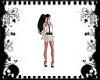 Blk White Skirt