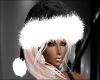 Black n White Santa Hat