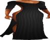 Black Taper Drape Dress