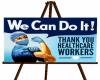 Healthcare Worker Easel