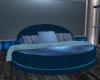 Round Blue Bed