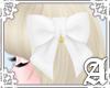 Lovely Ribbon Clip~ Whi1