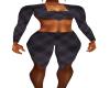 Black Plaid Workout Fit