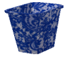 blue lace trash can
