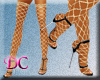 (DC)Fishnet Gold Sandals