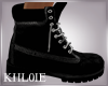 K al black boots