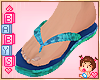✿ Kids Flipflops Ocean