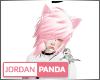 Pink/White Emo Hair