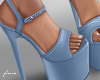 f. blue platform heels