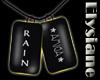 {E} Rain Xmas Tags