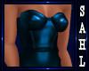 LS~LEATHER DRESS BLUE