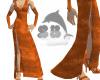 Orange V. Long Gown
