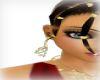 ( C ) diva gold earrings
