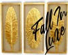 Golden Feather Canvas