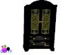 Royal black armoire