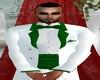 {BOO}White Tux  W/Green