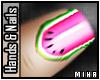 [M] Pink Melon Nails