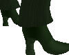 (V) Green heeled boots M