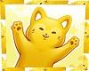 kawaii yellow cat