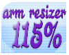 115% arm resizer