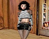 Fishnet Crop and Skirt