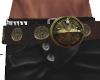 Belt Pirate Gold Conchos