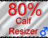 *M* Calf Resizer 80%