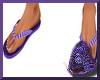 Purple Flip Flops (M)